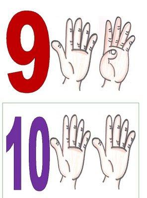 9,10 Números para montar cartaz para crianças