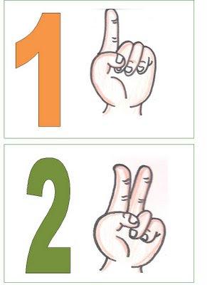 1,2 Números para montar cartaz para crianças
