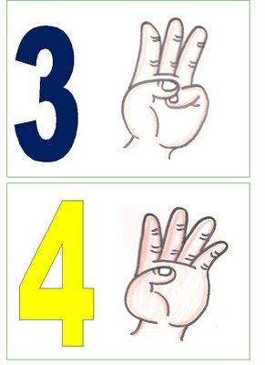 3,4 Números para montar cartaz para crianças