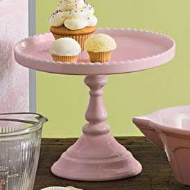 pink cake stand