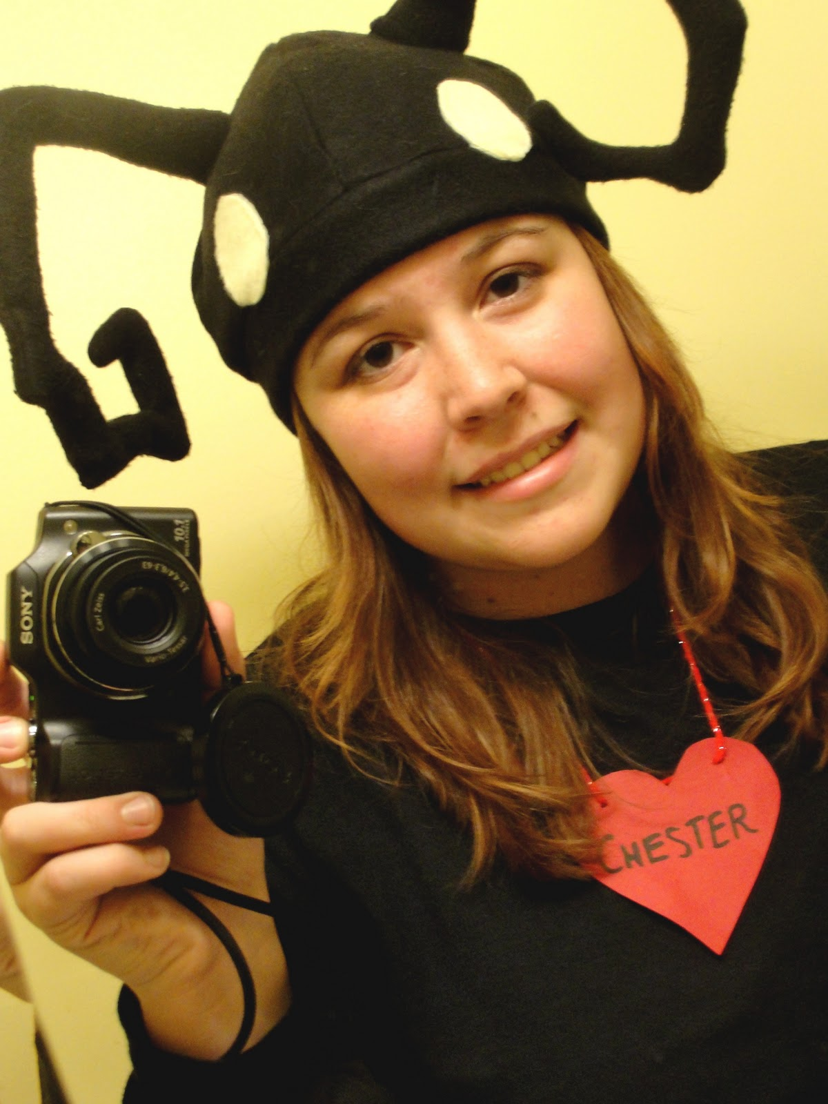 So there is my costume. Simple. Black pants black shirt chester necklace hat gloves (which Iu0027m not wearing in the picture). Twas fun! I had a halloween ...  sc 1 st  Adventures of a Teenage Otaku & Adventures of a Teenage Otaku: January 2011