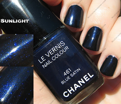 bluesatinsun The Next Big Thing   Chanel Blue Satin