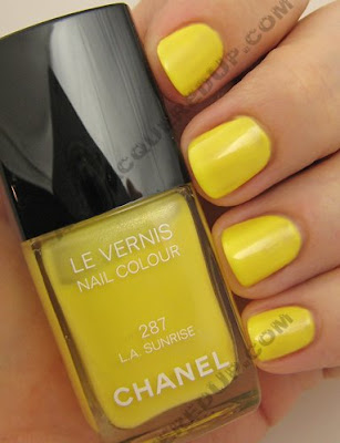 chanel, robertson boulevard, robertson, nail polish, nail lacquer, nail color, nail colour, nails, trends, yellow, la sunrise, l.a. sunrise