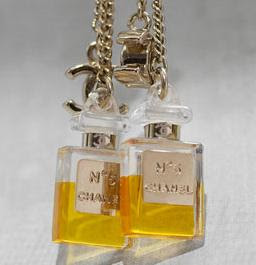 chanel no. 5, chanel earrings, chanel no. 5 earrings, interlocking c