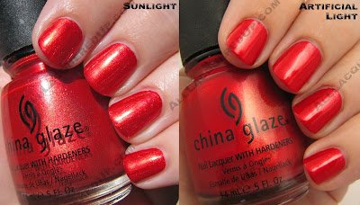 china glaze rodeo diva fall 2008 red stallion China Glaze Rodeo Diva   Flannel Fixation