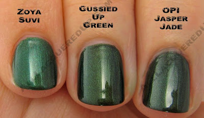 china glaze rodeo diva gussied up green jasper jade zoya suvi China Glaze Rodeo Diva   Flannel Fixation