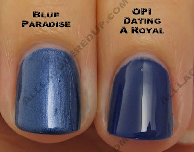 china glaze, bahama blues, winter 2008, nail polish, nail lacquer, nail color, nail colour, blue, blue paradise, opi dating a royal