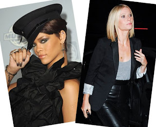 rihanna gwyneth paltrow fall 2008 metallic nail nails trend Fall Nail Trend Alert   Metallics