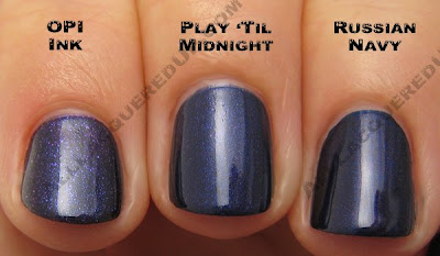 opi play til midnight russian navy ink OPI Holiday In Toyland Darks & Neutrals