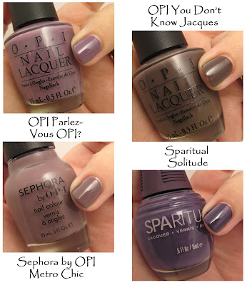 nail trend fall 2008 purple khaki Fall Nail Trend Alert   Smoky Tips