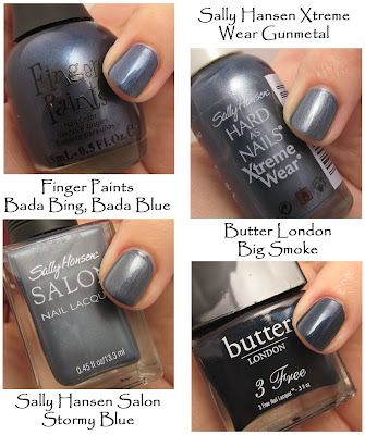 nail trend fall 2008 blue Fall Nail Trend Alert   Smoky Tips
