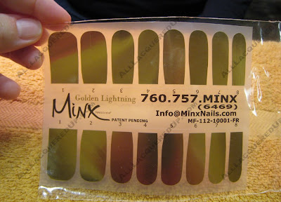 minx golden lightening Bling Your Nails Like Beyonce With Minx