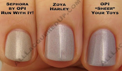 zoya harley, opi sheer your toys, sephora opi run with it, zoya, twist, spring 2009, nail color, nail colour, nail polish, nail lacquer
