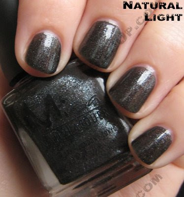 nail polish, nail lacquer, nail color, nail colour, misa, wishing on a star, black nail