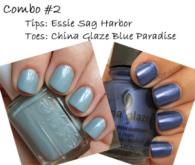 essie sag harbor, china glaze blue paradise