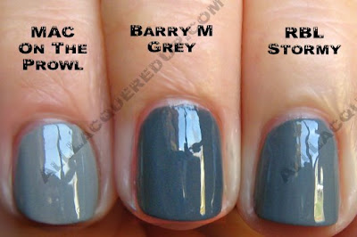 barry m grey mac rescue beauty stormy Swatch Request Saturday   Search for Chanel Dupes