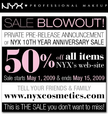 nyxsale NYX 10th Anniversary Sale