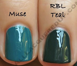 illamasqua muse rescue beauty teal Illamasqua Sirens Collection   Muse Nail Varnish