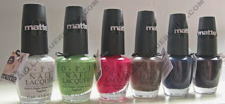 OPI Matte Nail Polish Swatches and Review