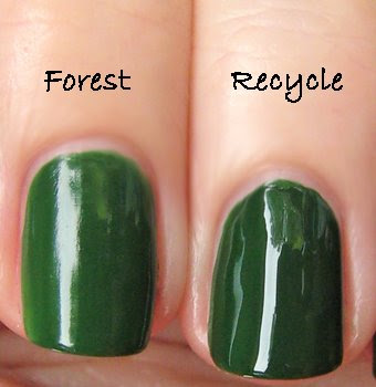 nubar forest rbl recycle Nubar Going Green Collection Review &amp; Swatches