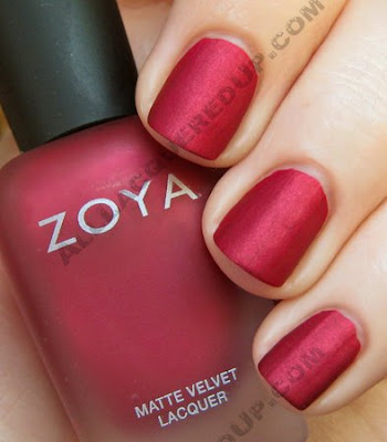 zoya posh matte velvet mattevelvet nail polish wm Zoya Matte Velvet Review and Swatches