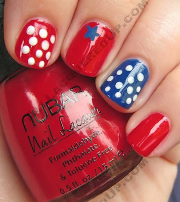 july fourth 4th manicure polka dot nail art My 4th of July Manicure   A Nail Art Extravaganza