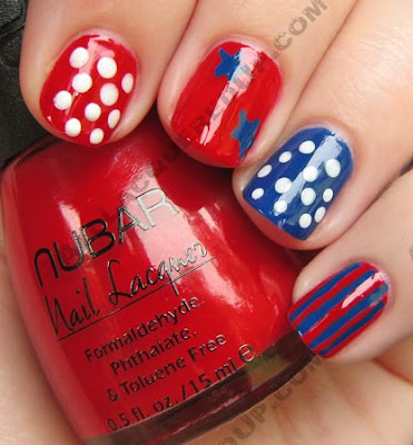 nail art fourth july 4th manicure stripes stars My 4th of July Manicure   A Nail Art Extravaganza
