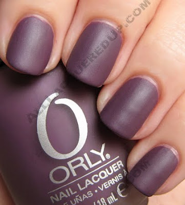 orly purple velvet matte couture nail polish fall 2009 Orly Matte Couture Collection Swatches &amp; Review