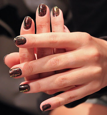 sally hansen midnight in new york hidden treasure tracy reese ss 10 Backstage with Sally Hansen at Tracy Reese S/S 10