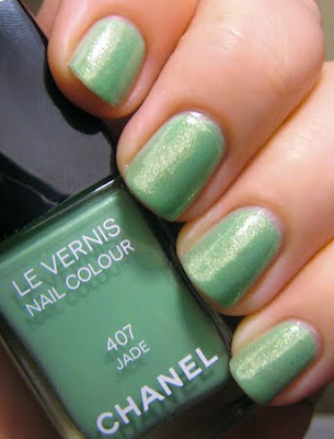 chanel jade cnd emerald sparkle nyfw My Fashion Week NOTD Challenge Wrap Up