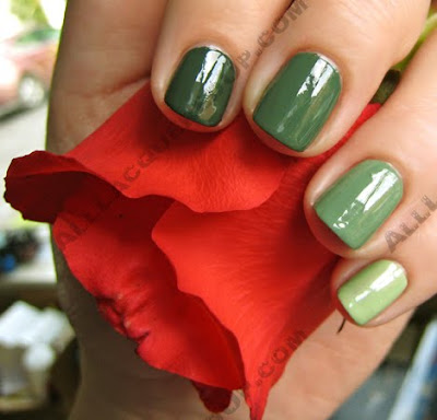 green gradation manicure rescue beauty orbis non suficit illamasqua milf A Twist on the Ombre or Gradation Manicure