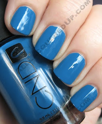 cnd anchor blue colour nail polish CND Monday   Anchor Blue Colour with Emerald Shimmer Effect