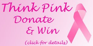 think pink donate win badge click Comments For A Cure 2009 Ends Today