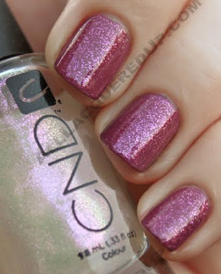 cnd muddy rose colour raspberry sparkle effect nail polish CND Monday   Muddy Rose Colour & Raspberry Sparkle Effect
