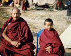 Con mi guru Khensur Lobsang Tenpa