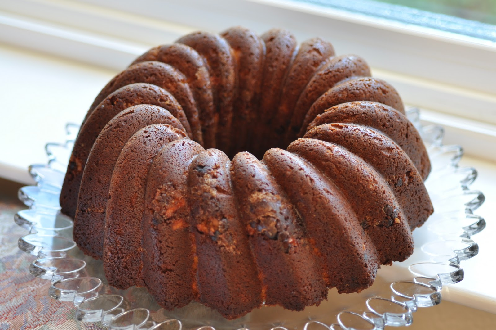 Sour Cream Hazelnut Bundt Cake