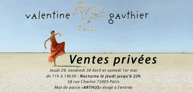 Vente privee Valentine Gauthier, rue Charlot