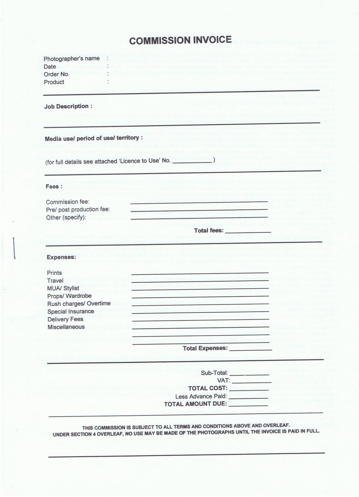 commission invoice form rough draft nikita