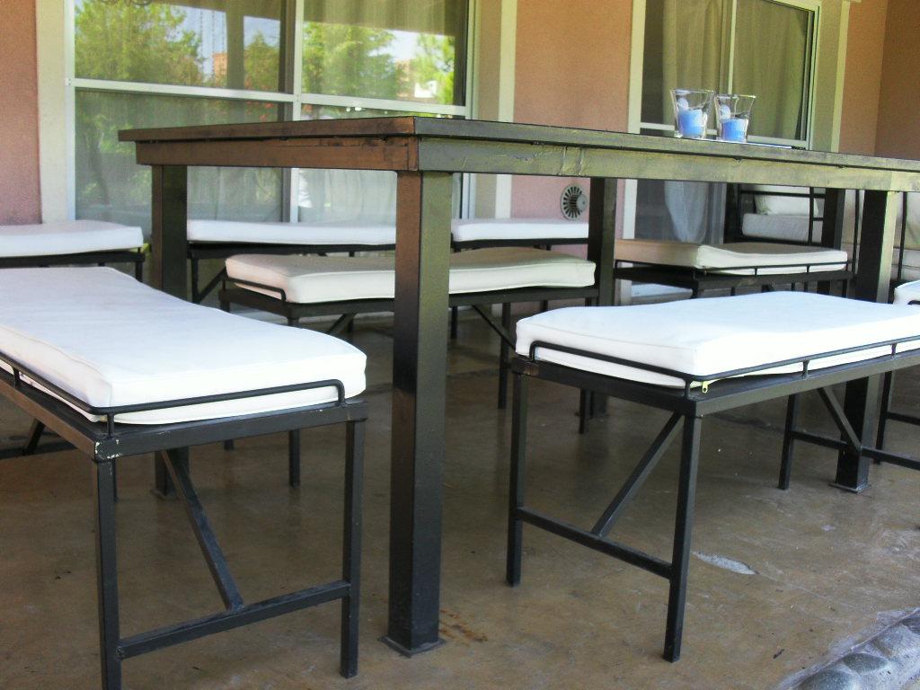 Le forgeron mesa con bancos - Mesa con bancos ...