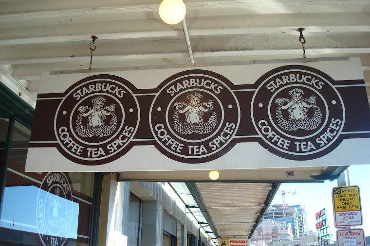 The Original Starbucks...Seattle, Washington...February, 2008