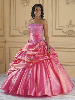 Pink Satin Ball Gown