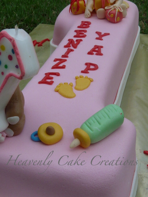 Cake Designs For A 1 Year Old : Heavenly Cake Creations: Birthday Cake for 1 year old girl