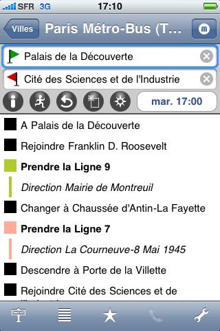 MetrO for iPhone screenshot