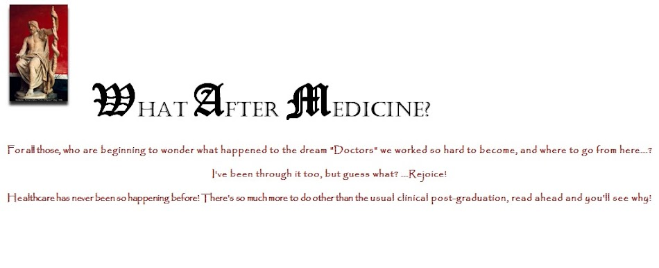 WHAT AFTER MEDICINE?