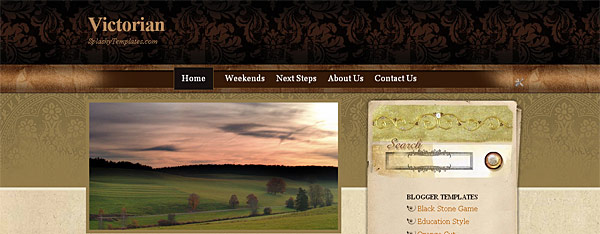 Victorian Blogger Template