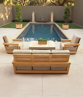 Teak Contemporary  Outdoor or Indoor Patio Furniture set