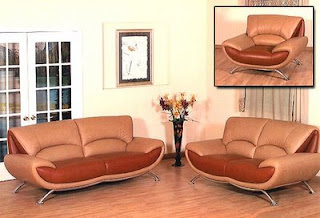 Contemporary Italian Leather Sofa Furniture