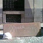 Acciones callejeras. Madrid lleno de pintadas.