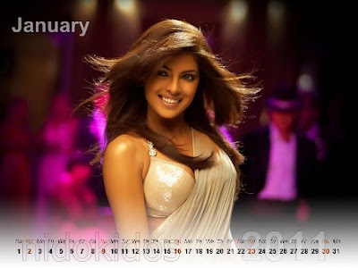 2011 calendar for desktop. Free Download Priyanka Chopra Desktop Calendar 2011 & Wallpapers