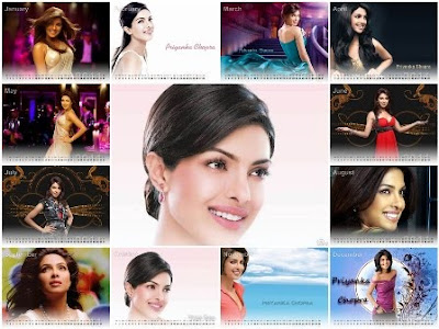 Free Download Priyanka Chopra Desktop Calendar 2011 & Wallpapers